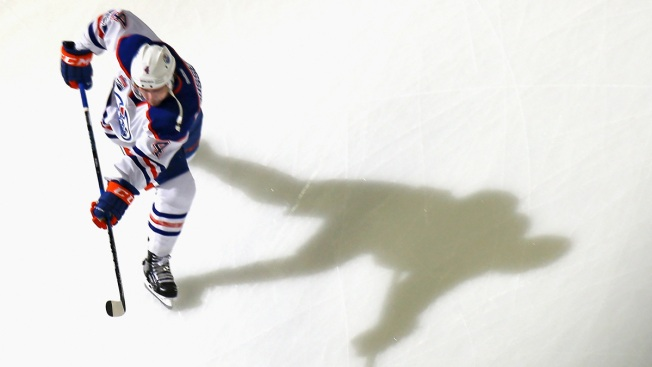Oilers Beat Devils, 3-2, in Overtime