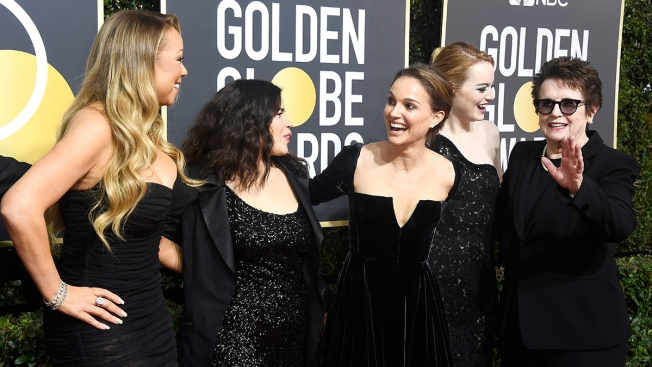 [NATL] Stars Shine in Black for the 75th Golden Globes Red Carpet