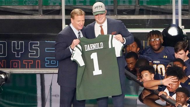 Jets Draft Usc Quarterback Sam Darnold With No 3 Pick Nbc