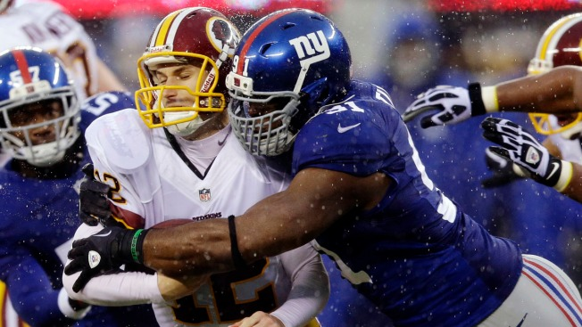 Giants Top Redskins Despite Eli Manning Injury; Tom Coughlin Proud
