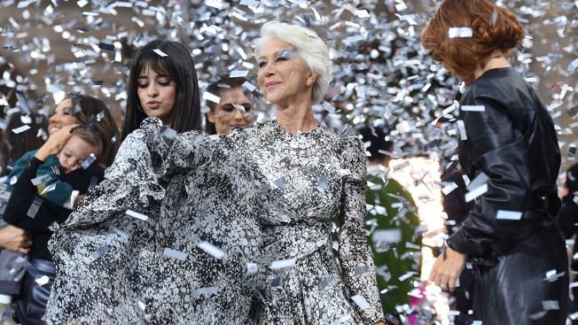 Guest Models Mirren, Longoria Energize L'Oréal Fashion Show