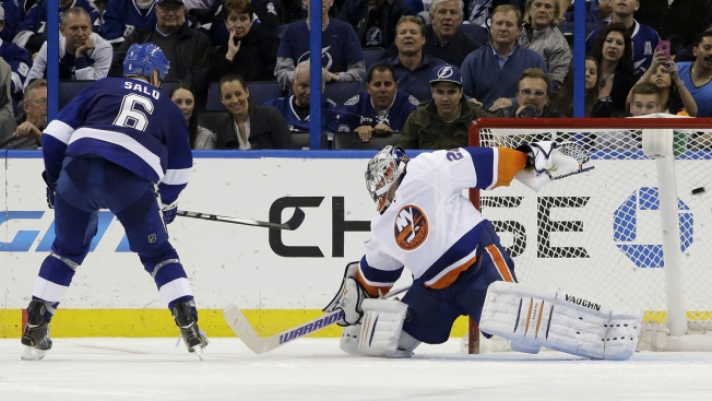 Islanders Zapped by Lightning in Shootout 3-2