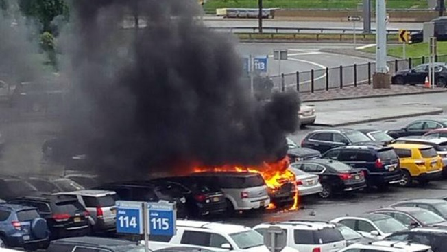 Several Cars Torched in JFK Parking Lot Fire: Authorities