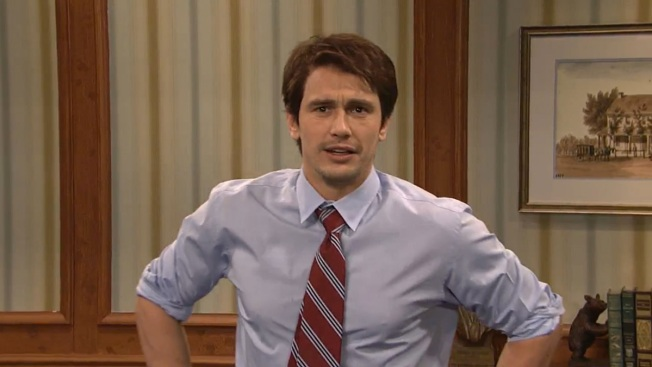 "James Franco Talks Sony Hack on ""Saturday Night Live"""