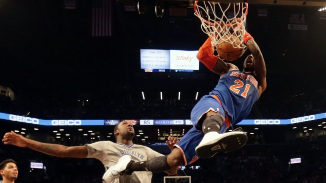 Knicks Pound Nets Again as Carmelo Anthony Sits