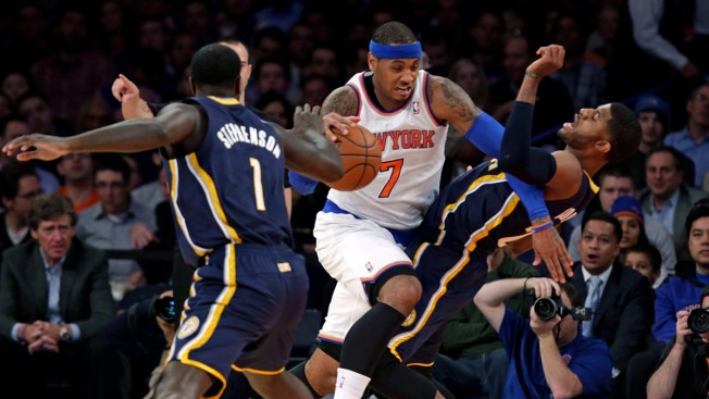 Carmelo Anthony Gets Double-Double in Overtime Loss to Pacers, Knicks Fall to 3-8