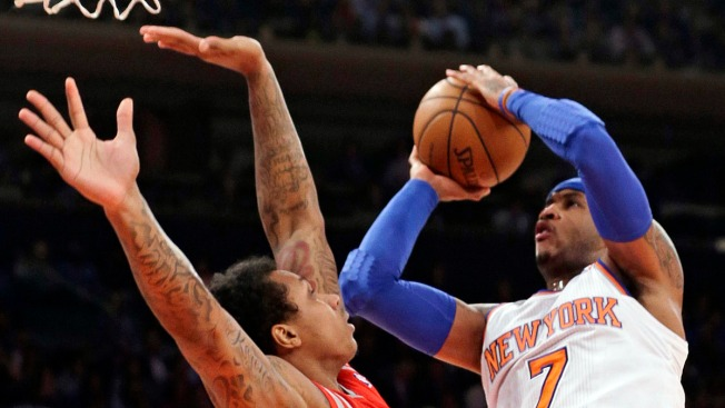 Carmelo Anthony Scores 45, Knicks Still Lose to Jeremy Lin, Rockets
