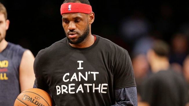 "LeBron James, Brooklyn Nets Wear ""I Can't Breathe"" Shirts"