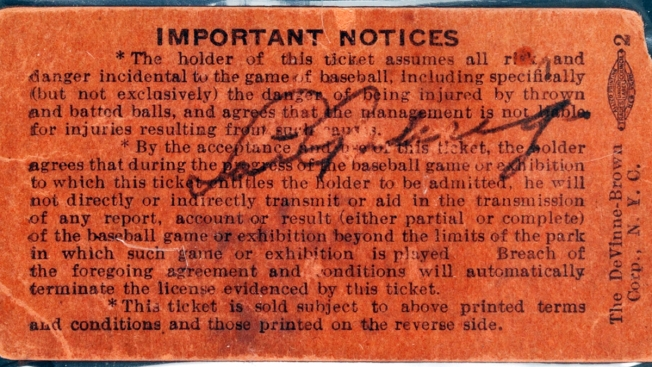 Signed Ticket From Lou Gehrig's Final Game Nets $95,600