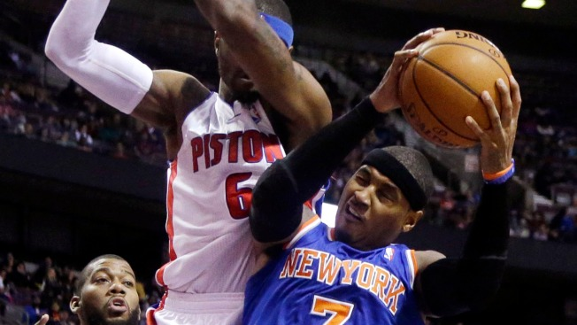 Carmelo Anthony, Knicks Fall to Pistons 92-86