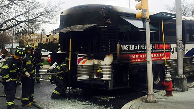 Nj Transit Bus Evacuated After Fire Authorities Nbc New