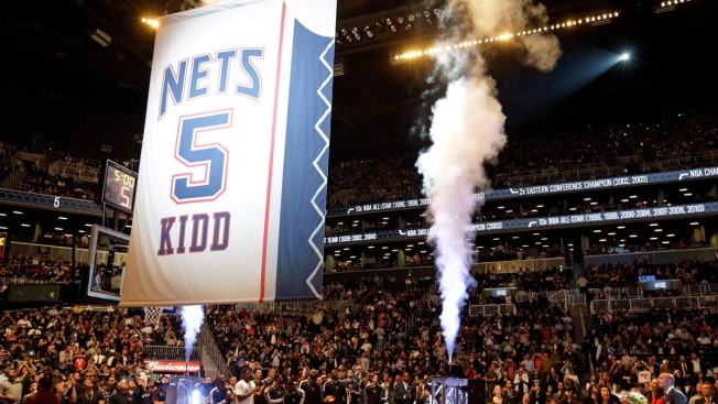 Nets Retire Jason Kidd's No. 5 Jersey