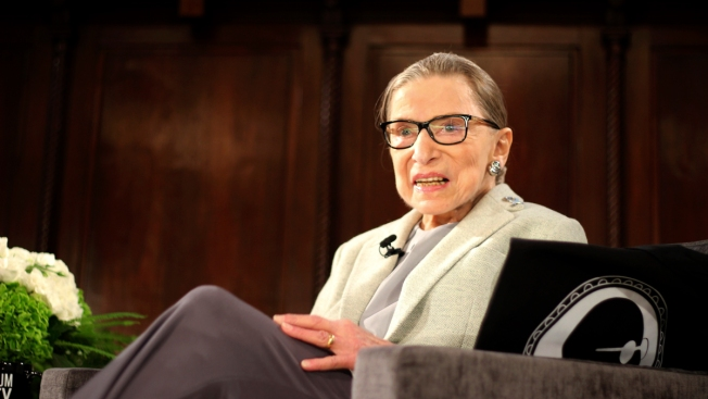 Spielberg, Gaga, Sign Get-Well Card for Ruth Bader Ginsburg