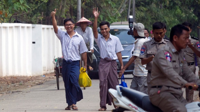 Myanmar Frees Reuters Reporters Jailed for Secrecy Act Crime