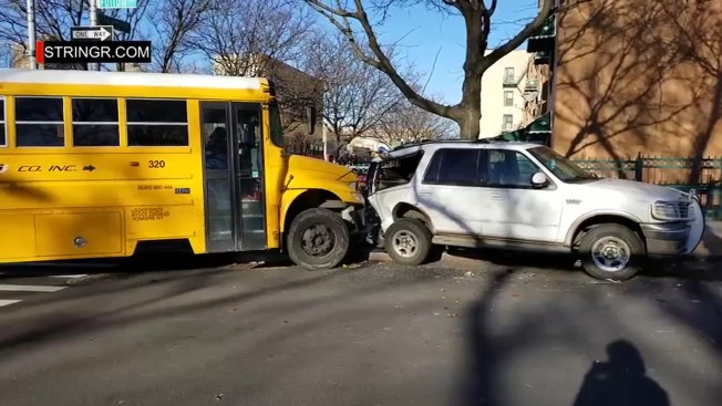 Bus Driver Seriously Injured, 13 Others Suffer Minor Injuries in School Bus Crash: FDNY