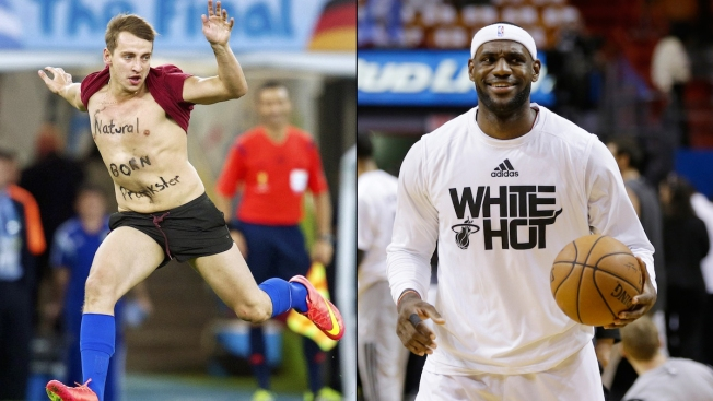 LeBron James Captures World Cup Streaker in Instagram Video