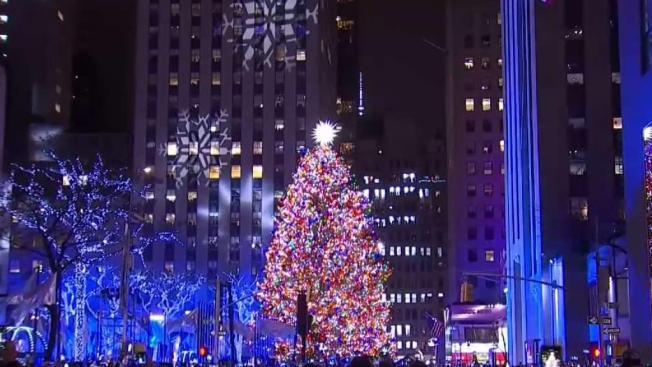 Rockefeller Center Christmas Tree Lights Up For 2018