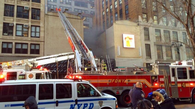 Firefighters Battle Blaze on 34th Street