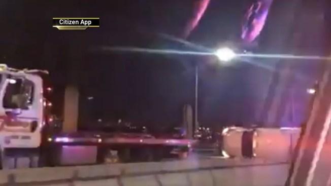 Lanes Temporarily Close After Tractor-Trailer Overturns on Verrazzano Bridge: Officials