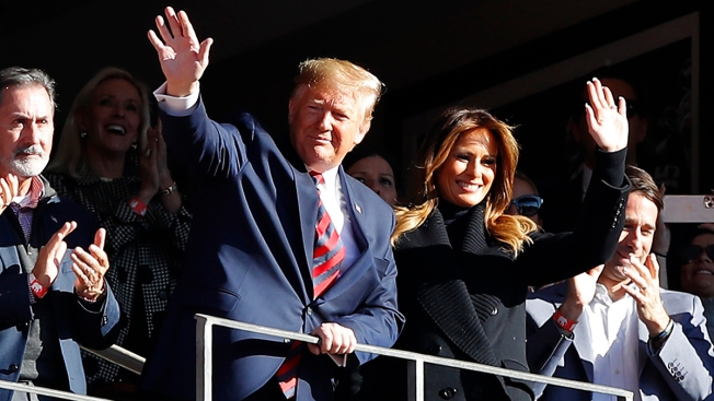 Trump Soaks in Deep South Cheers at College Football Matchup