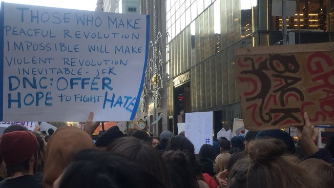 Thousands of Protesters Swarm Union Square in 4th Straight Day of Anti-Trump Demonstrations in New York City