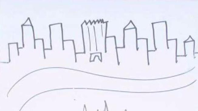 New York Skyline In Ink Acrylic Print by Adendorff Design