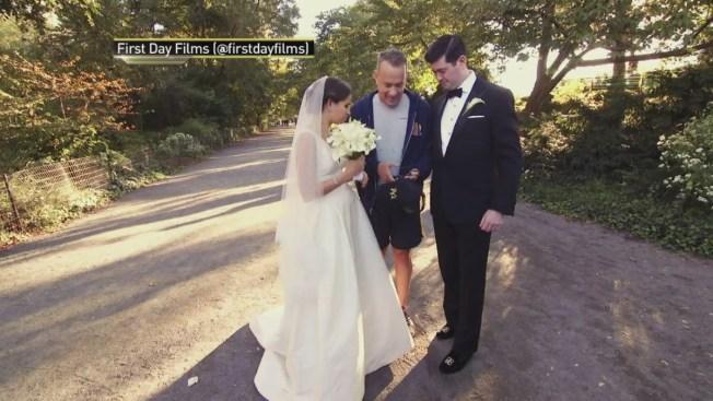 Tom Hanks Photos Central Park Wedding Shoot