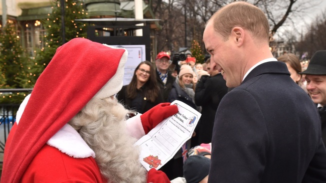 Prince William Stops to Visit Santa to Hand Him George's Christmas List