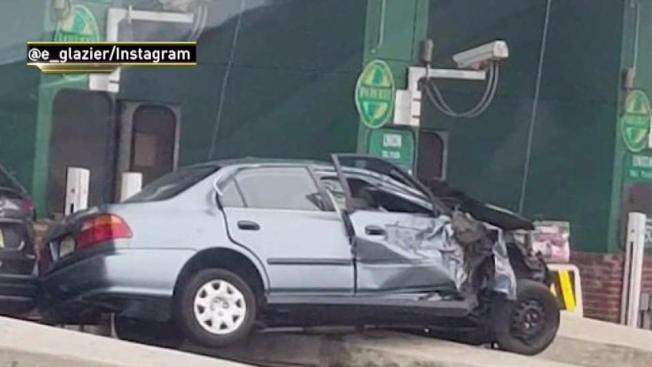 Woman Killed In Toll Booth Crash On Garden State Parkway Nbc New York