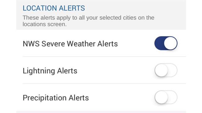 Weather Alerts: How to Set up Location Alerts in App Version 5.5