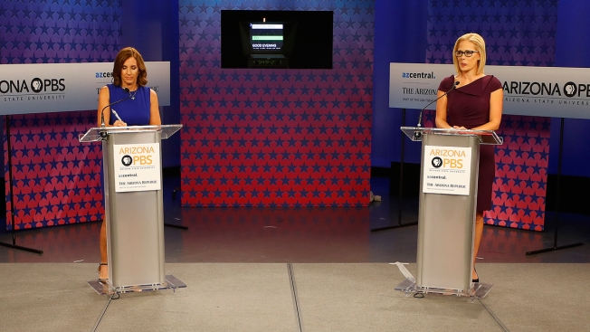 McSally Accuses Sinema of Backing 'Treason' in Arizona Senate Debate