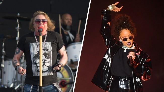 Rihanna, Axl Rose Among Latest Stars to Slam Trump's Use of Their Music at Rallies