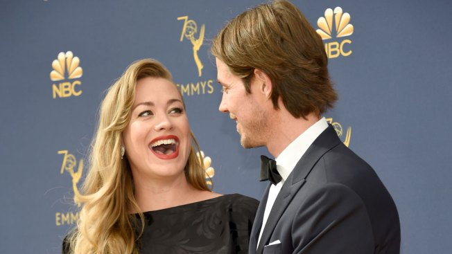 Yvonne Strahovski Accidentally Reveals She's Having a Boy on Emmys Red Carpet