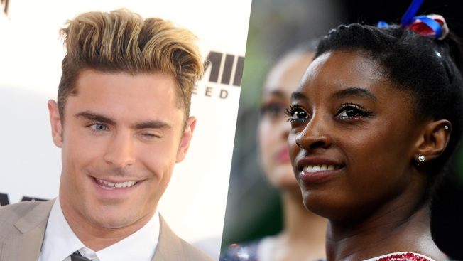 Simone Biles and Zac Efron: A Twitter Friendship