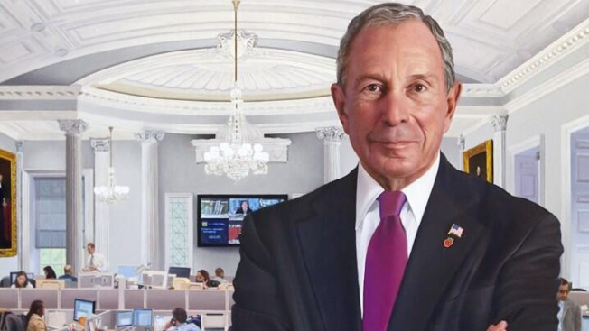 Bloomberg's Official Mayoral Portrait Placed in City Hall