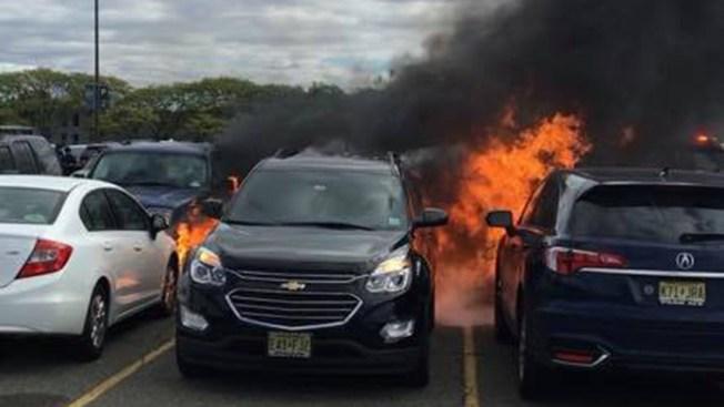 Jets Get Torched, Hot Coals Set Cars Ablaze at MetLife Stadium