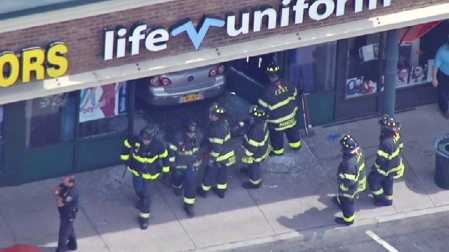 Car Crashes Through Store on Staten Island