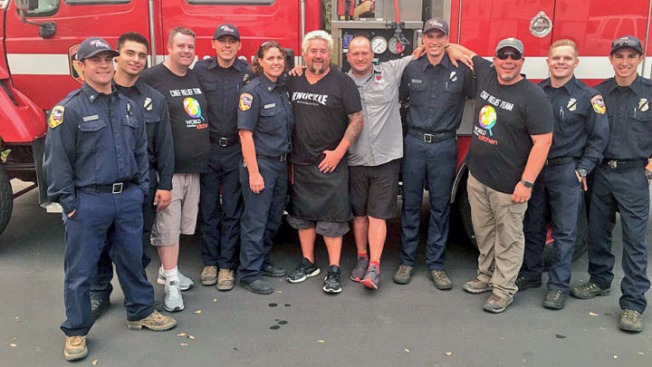 Guy Fieri Among Celebrity Chefs Teaming Up to Feed Kincade Fire Evacuees, First Responders