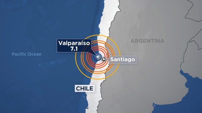 Powerful 6.9 Quake Shakes Central Chile, No Damage Reported