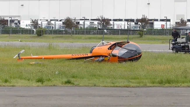 Helicopter Hovering Over Ground Crashes, Rolls at NJ Airport: Officials