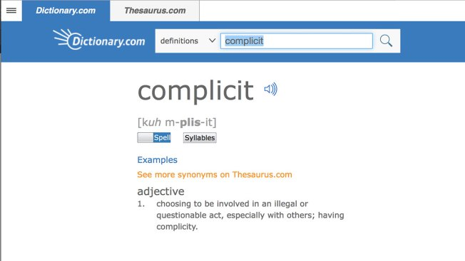 'Complicit' Is Word of the Year, Dictionary.com Says