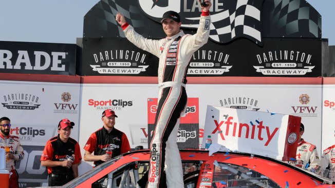 Denny Hamlin Runs Down Teammate to Secure Darlington Win