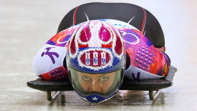 Team USA's Noelle Pikus-Pace Chases Britain's Lizzy Yarnold In Search of Olympic Gold in Women's Skeleton