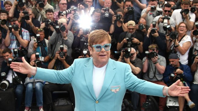 Elton John and 'Rocketman' Touch Down in Cannes
