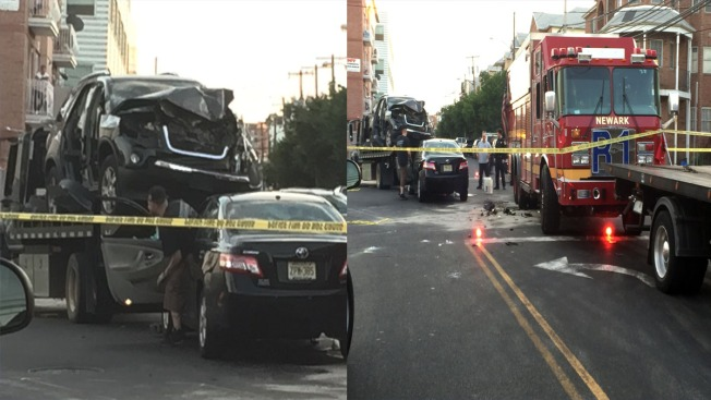 Firetruck Collides With Car on the Way to Fire in Newark: Police