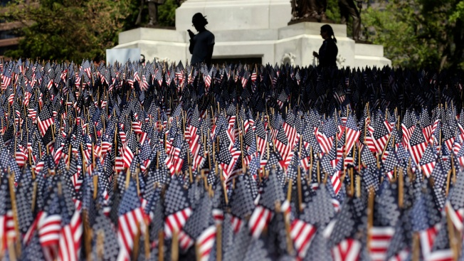 Boston's Memorial Day Flag Garden Idea Spreads Across the US