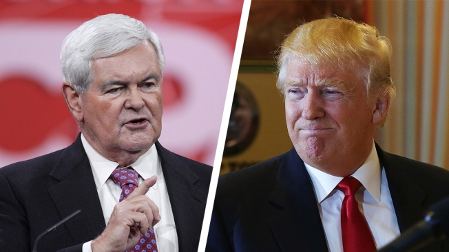 Newt Gingrich Says Donald Trump 'Not Trying' Yet
