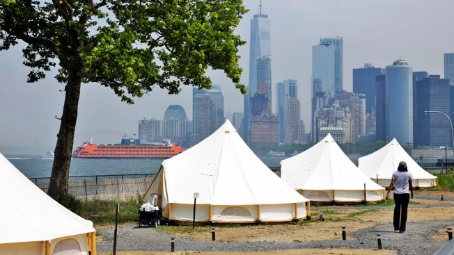 You Can Now Go Glamping on Governors Island; Stay in a High-End Tent for About the Cost of a Manhattan Hotel Room