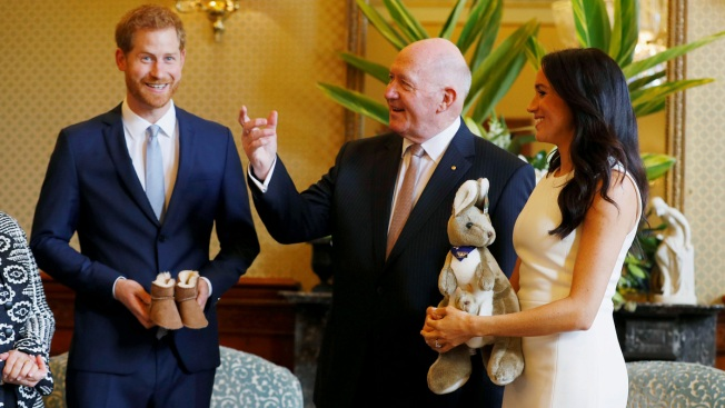 Prince Harry, Meghan Start Australia Tour With Baby Gifts