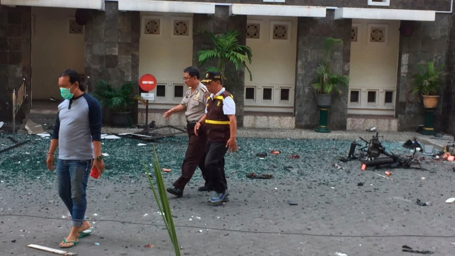 Suicide Bombers Kill at Least 7, Wound 41 in Indonesia Church Attacks